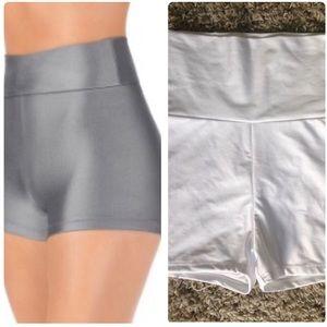NEW Natalie High Waisted White Dance Gym Shorts M